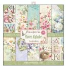Stamperia - Double-Sided 12 x 12 Inch Paper Pack - Flower Alphabet
